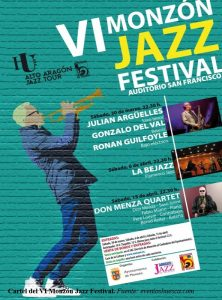 Cartel VI Monzón Jazz Festival. CLIPPING MENSUAL FEBRERO